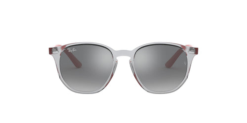 Ray Ban Jr - RJ9070S Trasparent Grey Irregular Unisex Sunglasses - 46mm