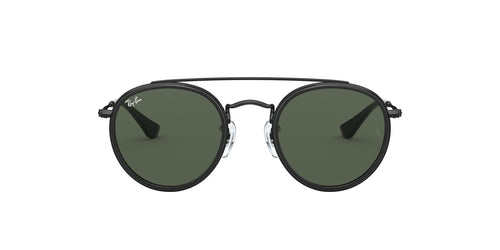 Ray Ban Jr - Round Double Bridge Black Round Unisex Sunglasses - 46mm
