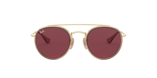 Ray Ban Jr - Round Double Bridge Gold/Pink Round Unisex Sunglasses - 46mm