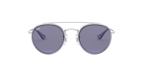 Ray Ban Jr - Round Double Bridge Silver/Violet Round Unisex Sunglasses - 46mm