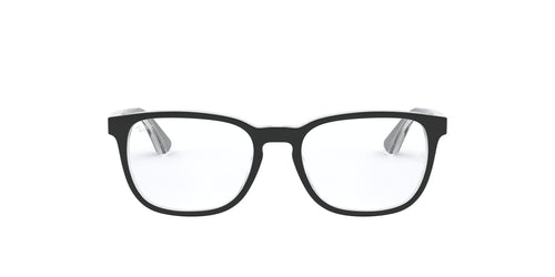 Ray Ban Jr - RY1592 Top Black On Transparent Square Men Eyeglasses - 48mm