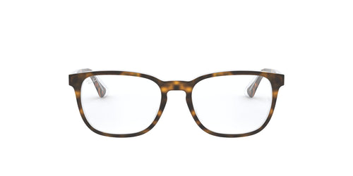 Ray Ban Jr - RY1592 Havana On Trasparent/Clear Rectangular Kids Eyeglasses - 46mm