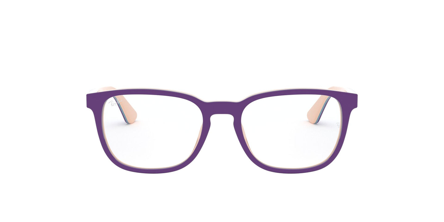 Ray Ban Jr - RY1592 Top Violet On Pink Blue/Clear Square Kids Eyeglasses - 46mm