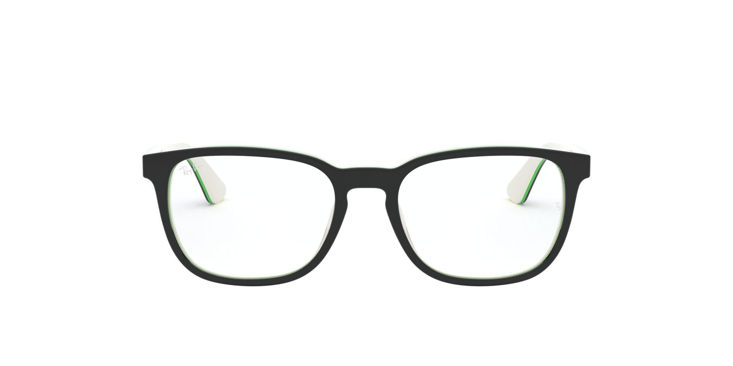 Ray Ban Jr - RY1592 Top Black On White/Green Square Men Eyeglasses - 48mm