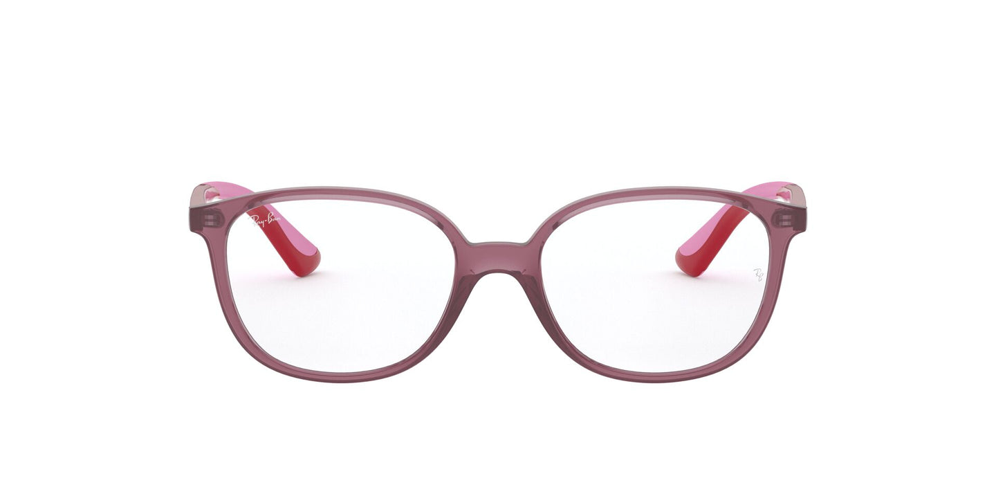 Ray Ban Jr - RY1598 Transparent Red/Clear Square Kids Eyeglasses - 47mm