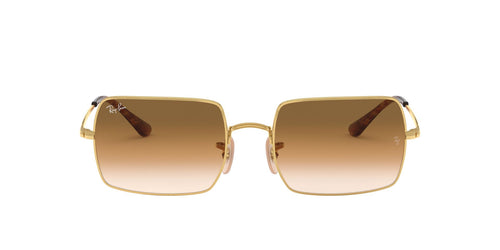 Ray Ban - Rectangle 1969 Gold/Clear to Brown Gradient Rectangle Unisex Sunglasses - 54mm