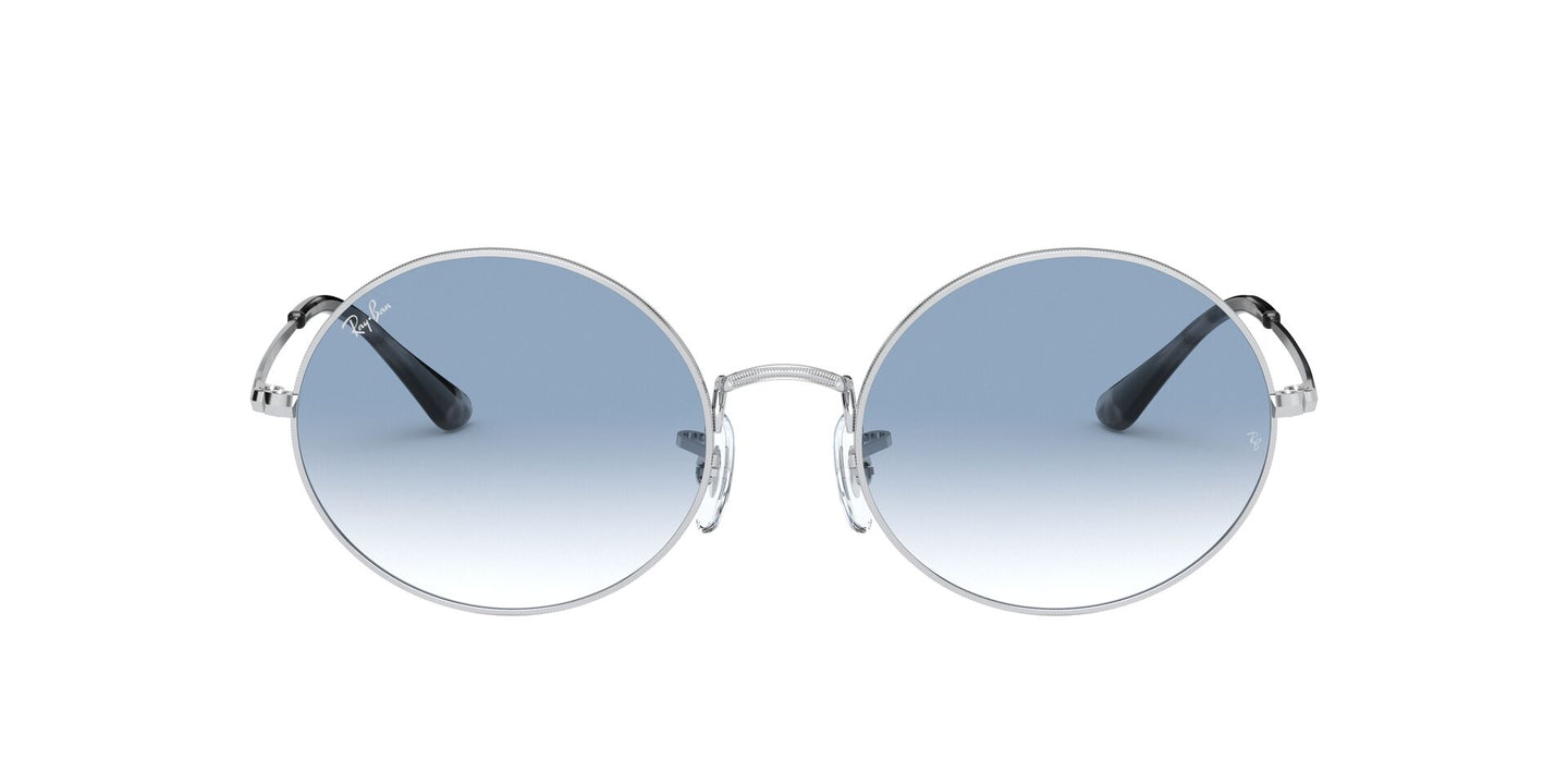 Ray Ban - Oval 1970 Silver Rectangle Unisex Sunglasses - 54mm