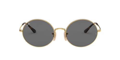 Ray Ban - Oval 1970 Gold Rectangle Unisex Sunglasses - 54mm