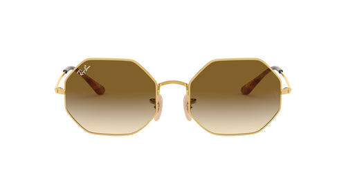 Ray Ban - Octagon 1972 Gold Rectangle Unisex Sunglasses - 54mm