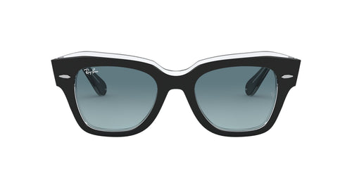Ray Ban - State Street Black On Trasparent Square Unisex Sunglasses - 49mm