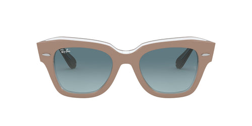 Ray Ban - State Street Beige On Trasparent Square Unisex Sunglasses - 49mm