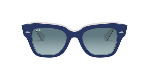Ray Ban - State Street Blue On White Square Unisex Sunglasses - 49mm