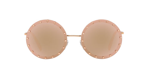 Valentino - VA2010B Rose Gold Plated Round Women Sunglasses - 58mm