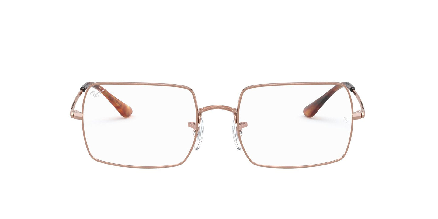 Ray Ban Rx - RX1969V Copper Rectangle Unisex Eyeglasses - 54mm