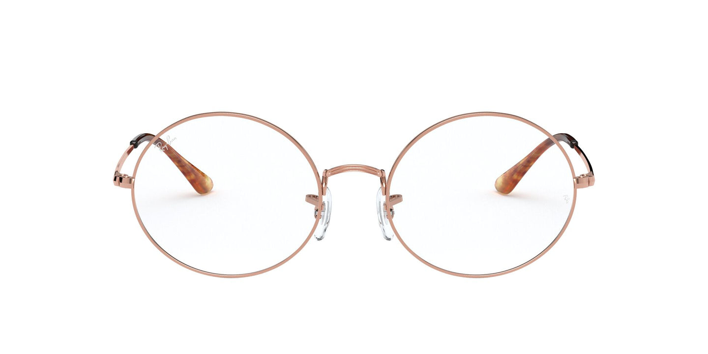 Ray Ban Rx - RX1970V Copper/Clear Round Unisex Eyeglasses - 54mm