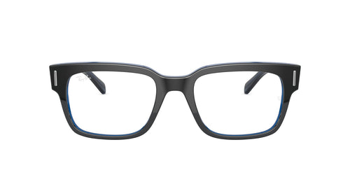 Ray Ban Rx - RX5388 Grey On Top Trasparent Blue Square Men Eyeglasses - 53mm