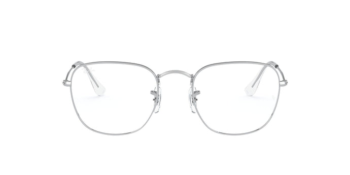 Ray Ban Rx - Frank Silver Square Unisex Eyeglasses - 51mm