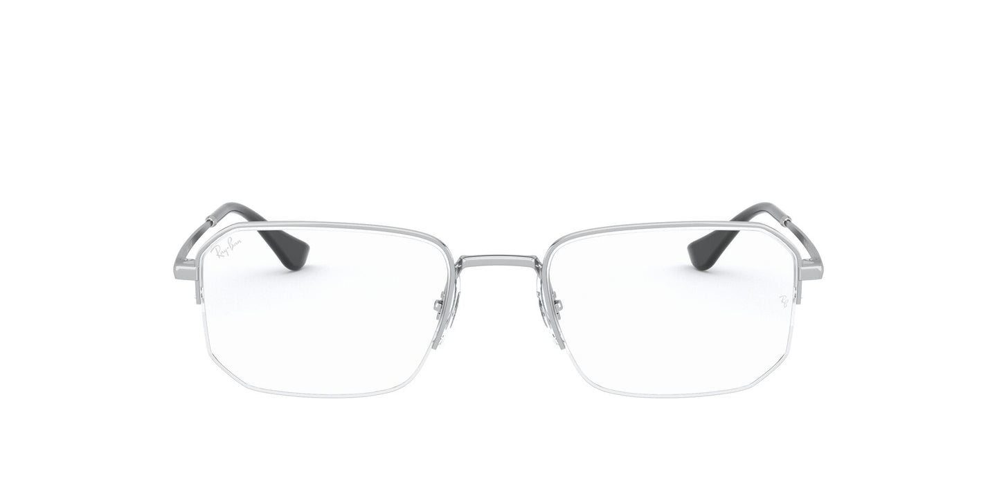Ray Ban Rx - RX6449 Silver Irregular Unisex Eyeglasses - 53mm