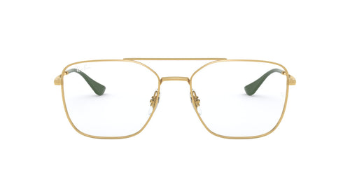 Ray Ban Rx - RX6450 Gold/Clear Aviator Unisex Eyeglasses - 54mm