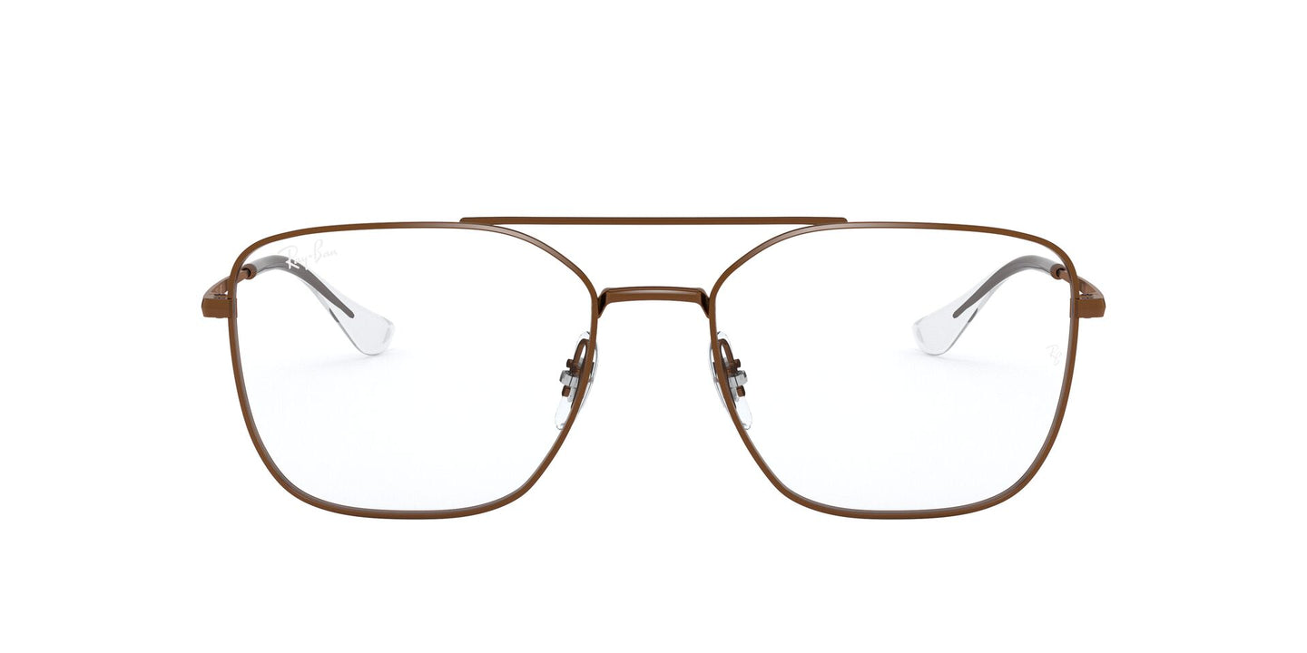 Ray Ban Rx - RX6450 Sanding Trasparent Brown Irregular Unisex Eyeglasses - 56mm