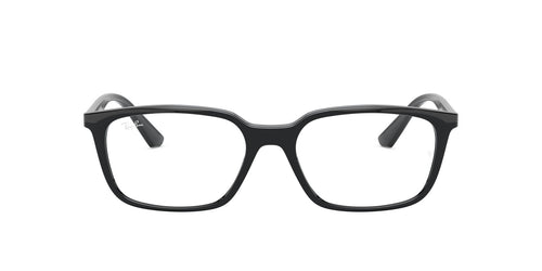 Ray Ban Rx - RX7176 Black/Clear Rectangular Unisex Eyeglasses - 54mm