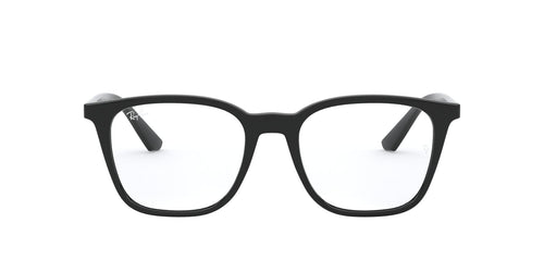Ray Ban Rx - RX7177 Black Square Unisex Eyeglasses - 51mm
