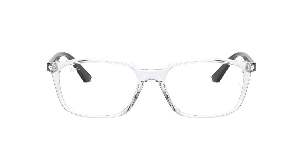 Ray Ban Rx - RX7176 Transparent Rectangle Unisex Eyeglasses - 52mm