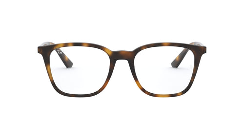 Ray Ban Rx - RX7177 Havana Square Unisex Eyeglasses - 51mm