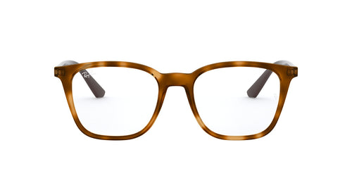 Ray Ban Rx - RX7177 Yellow Light Havana Square Unisex Eyeglasses - 51mm