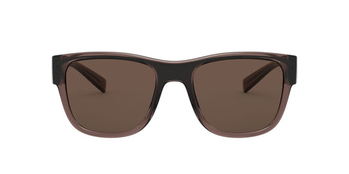 Dolce Gabbana - DG6132 Transparent Brown/Black/Brown Square Men Sunglasses - 54mm