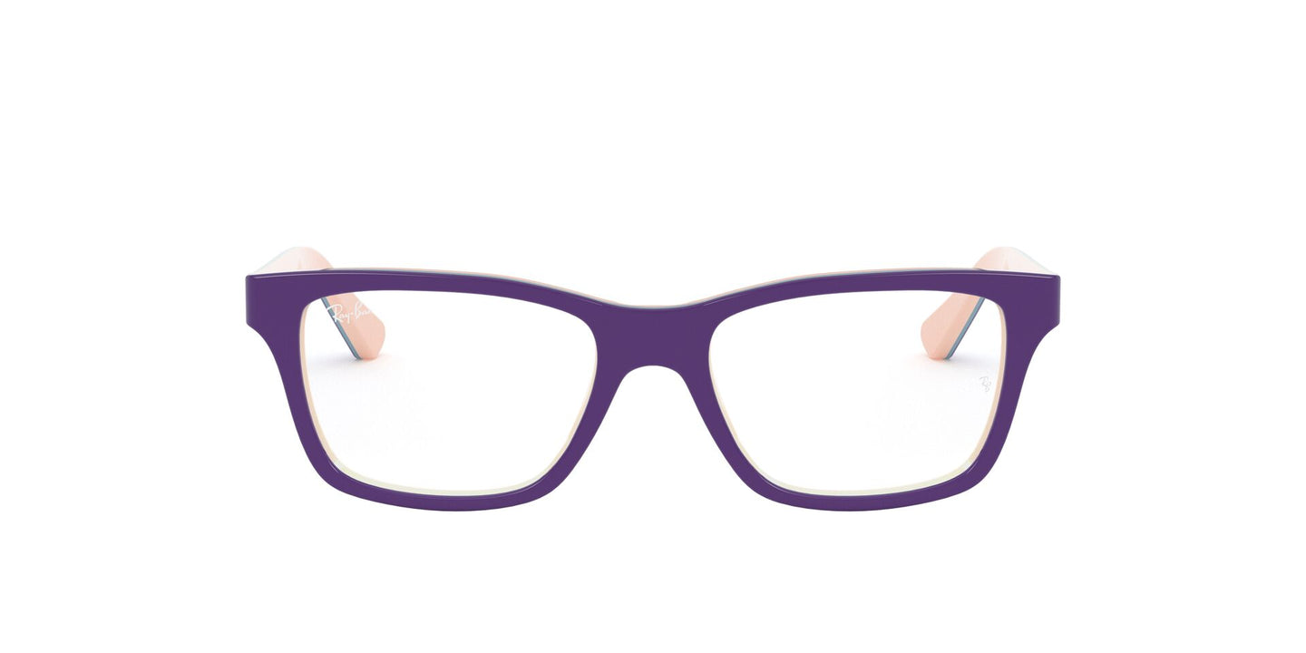 Ray Ban Jr - RY1536 Top Violet On Pink/Blue Square Unisex Eyeglasses - 48mm