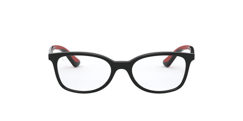 Ray Ban Jr - RY1586 Black/Clear Rectangular Kids Eyeglasses - 49mm