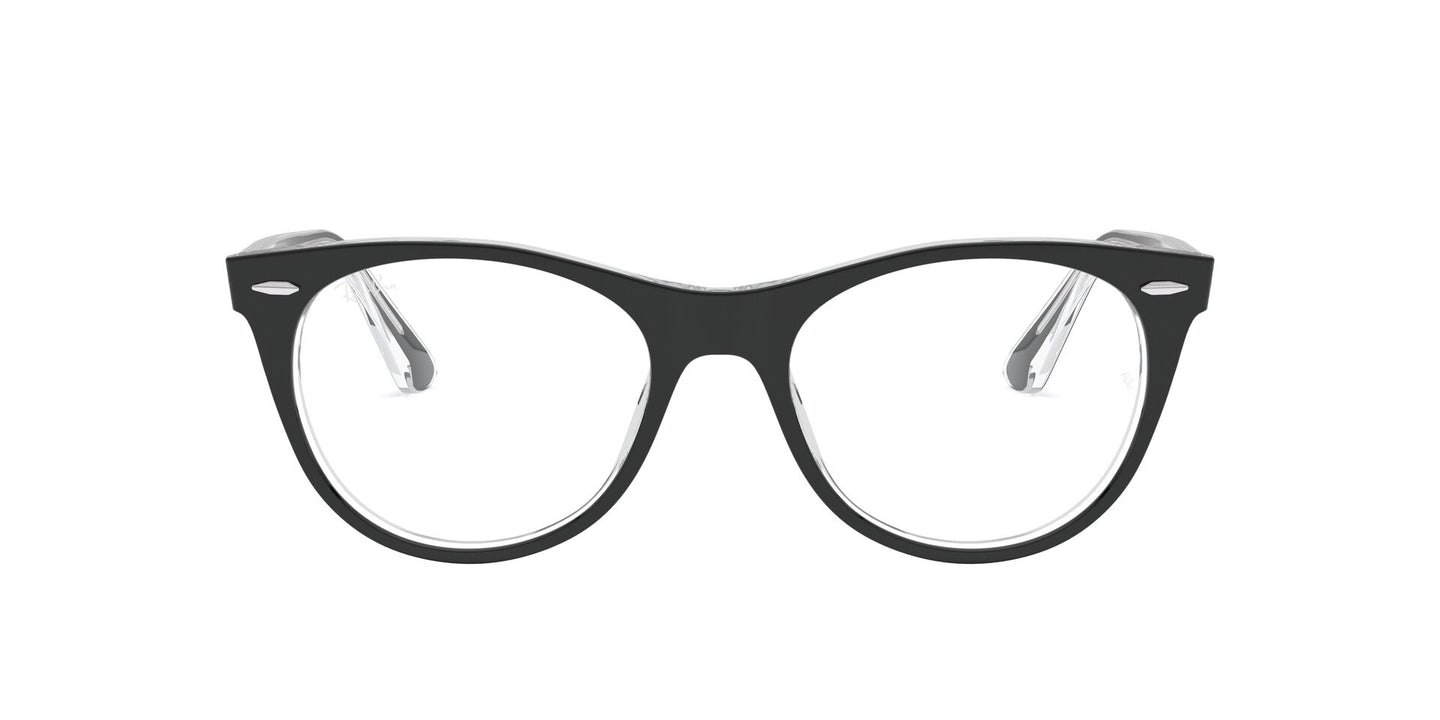 Ray Ban Rx - Wayfarer II Top Black On Transparent Phantos Unisex Eyeglasses - 52mm