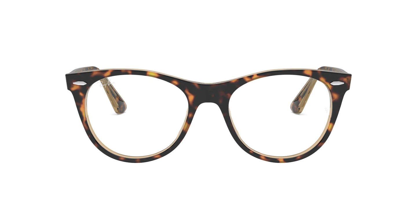 Ray Ban Rx - RX2185V Havana/Clear Cat Eye Unisex Eyeglasses - 50mm