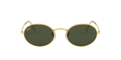Ray Ban - Round Metal Legend Gold Gold Legend/Green Oval Unisex Sunglasses - 51mm