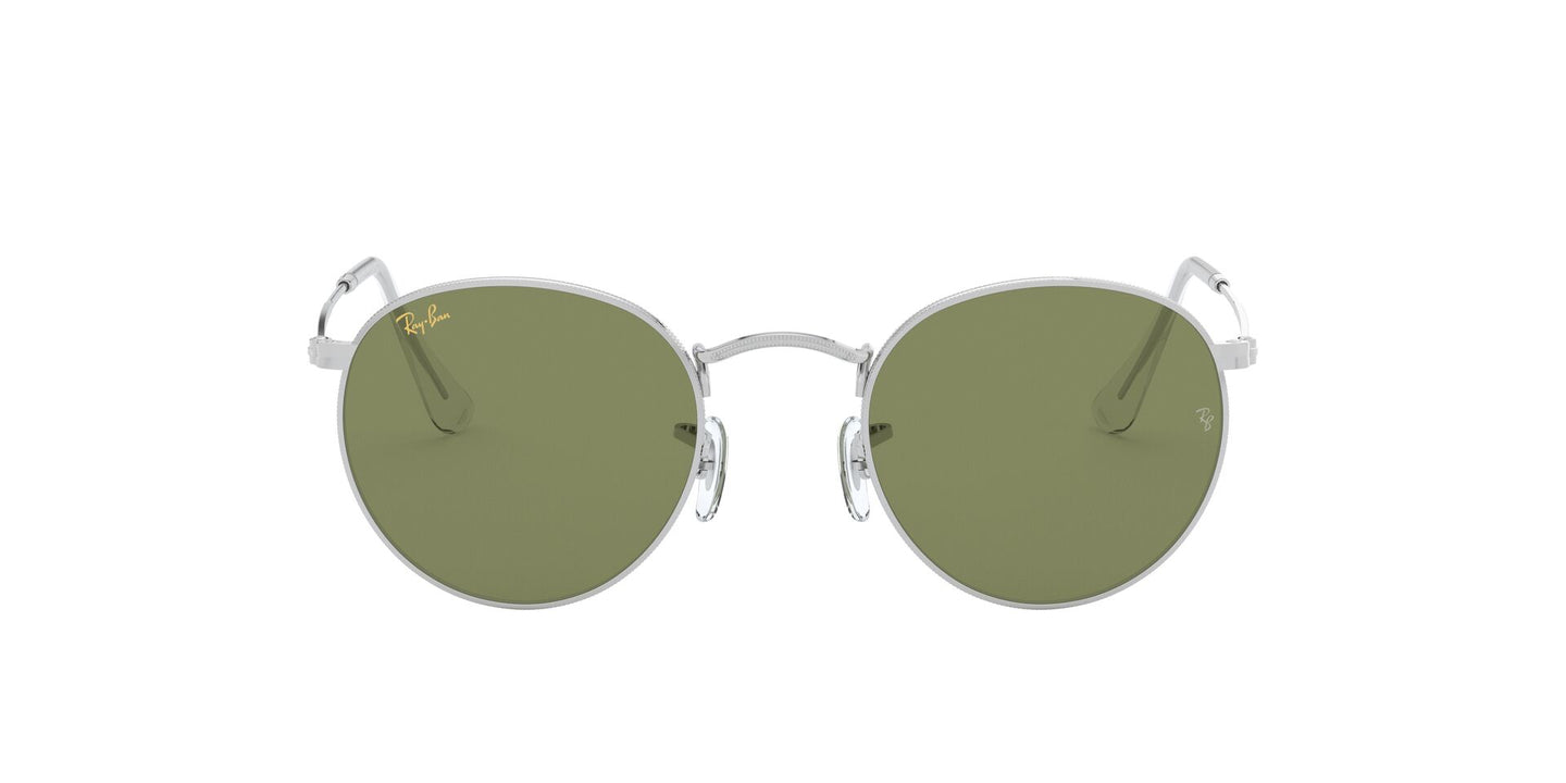 Ray Ban - Round Metal Legend Gold Silver/Green Bottol Round Men Sunglasses - 53mm