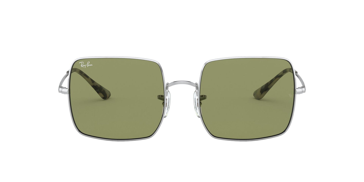 Ray Ban - Square 1971 Classic Silver/Green Bottle Square Women Sunglasses - 54mm