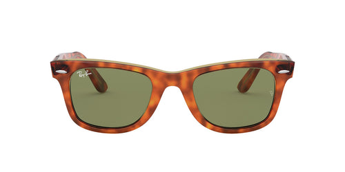 Ray Ban - Original Wayfarer Light Havana On Trasparent Yellow/Bottle Green Unisex Sunglasses - 50mm