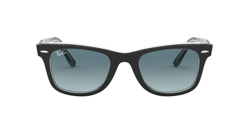 Ray Ban - Original Wayfarer Black On Trasparent/Blue Gradient Unisex Sunglasses - 50mm
