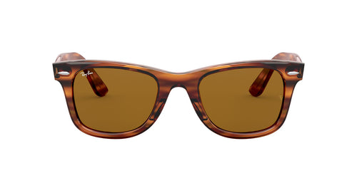 Ray Ban - Wayfarer Ease Stripped Red Havana Square Unisex Sunglasses - 50mm