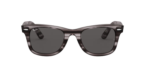 Ray Ban - Wayfarer Ease Stripped Grey Havana Square Unisex Sunglasses - 50mm