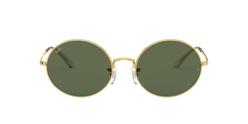 Ray Ban - Oval 1970 Legend Gold/Green Rectangle Unisex Sunglasses - 54mm