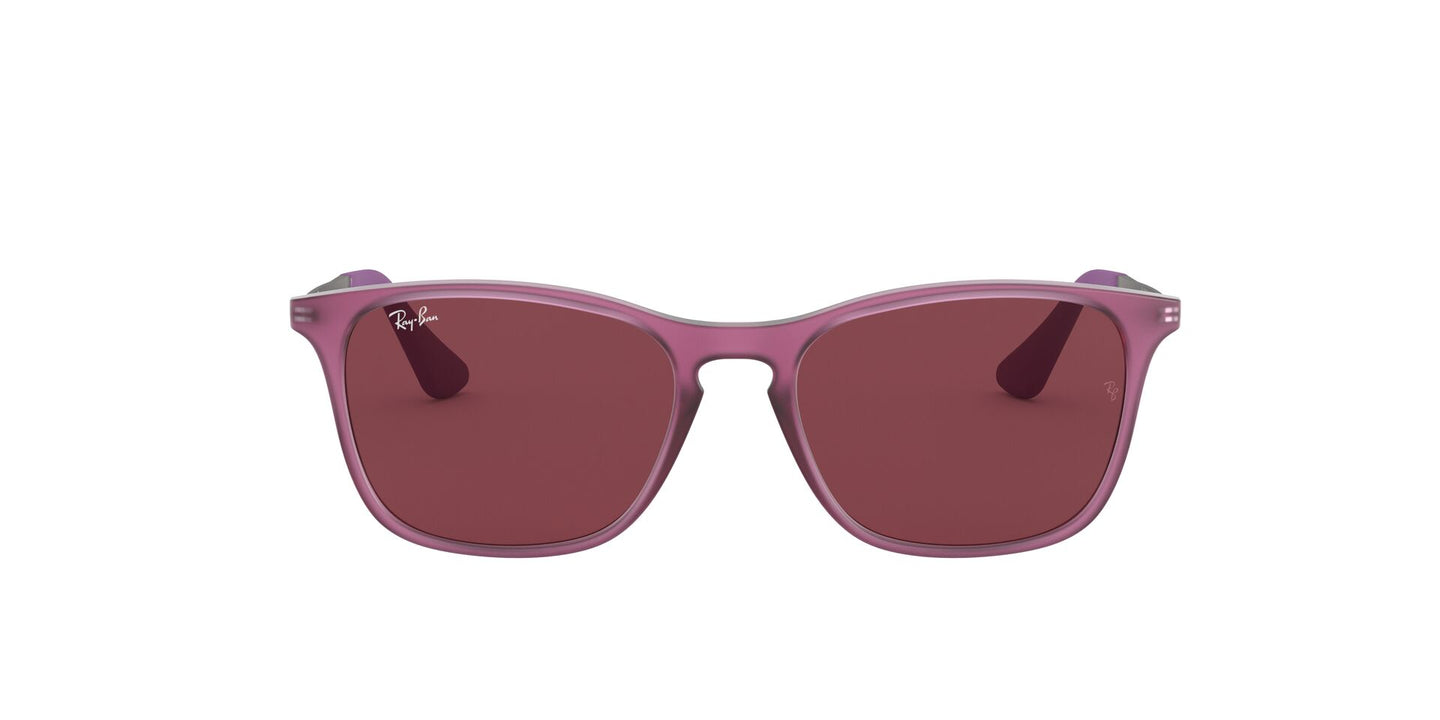 Ray Ban Jr - RJ9061SF Rubber Trasparent Fuxia/Dark Violet Square Kids Sunglasses - 52mm