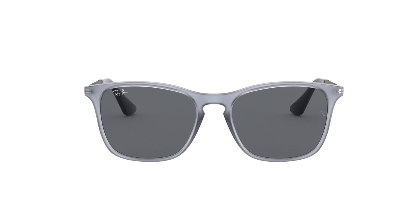 Ray Ban Jr - RJ9061SF Rubber Trasparent Grey/Dark Grey Square Kids Sunglasses - 52mm