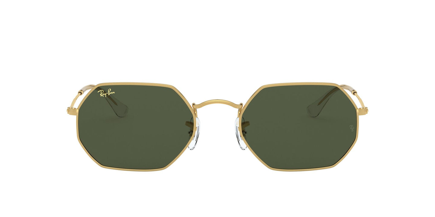 Ray Ban - Octagonal Legend Gold Gold Legend/Green Geometric Unisex Sunglasses - 53mm