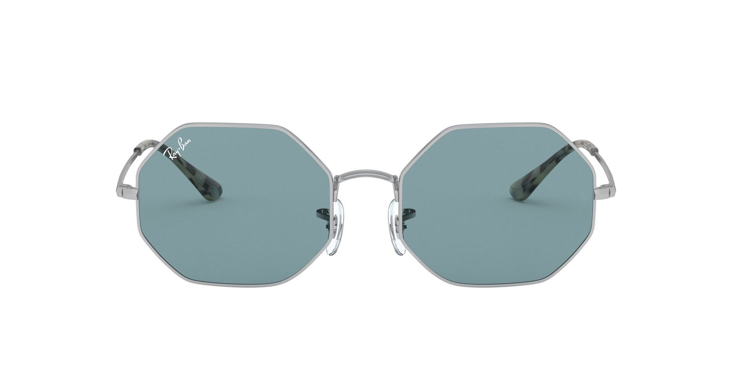 Ray Ban - Octagon 1972 Silver/Azure Blue Mirror Rectangle Unisex Sunglasses - 54mm