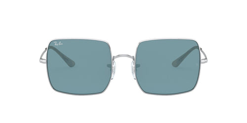 Ray Ban - Square 1971 Classic Silver/Azure/Blue Mirror Square Women Sunglasses - 54mm
