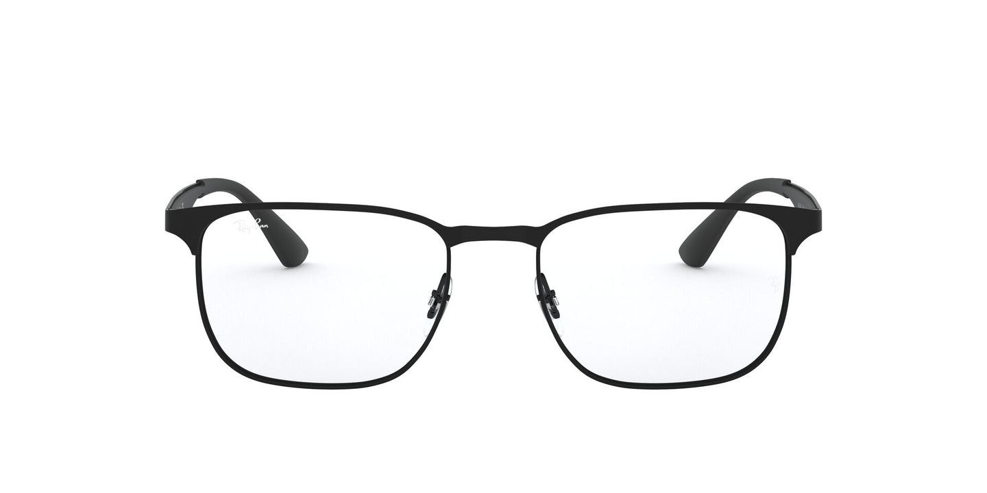 Ray Ban Rx - RX6363 Black/Matte Black Square Unisex Eyeglasses - 54mm