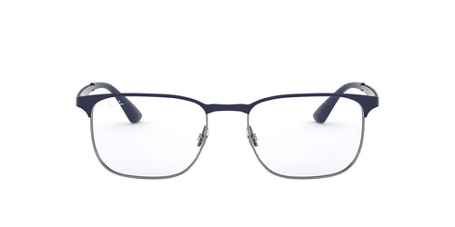 Ray Ban Rx - RX6363 Gunmetal On Top Dark Blue Square Unisex Eyeglasses - 54mm