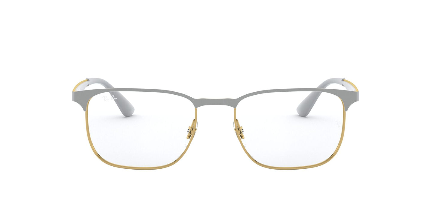 Ray Ban Rx - RX6363 Gold On Top Grey Square Unisex Eyeglasses - 54mm